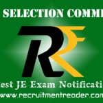 SSC JE Exam Notification