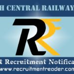 North Central Railway RRC Recruitment Notification 2019