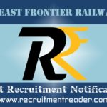 Northeast Frontier Railway Recruitment Notification