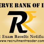 RBI Exam Results 2019