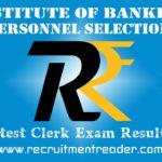 IBPS Clerk Exam Results 2018