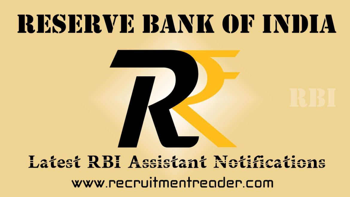 RBI Assistant Recruitment Notification 2018