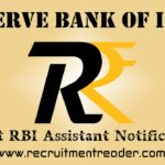 RBI Assistant Recruitment Notification 2020
