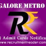 BMRCL Exam Admit Card 2018