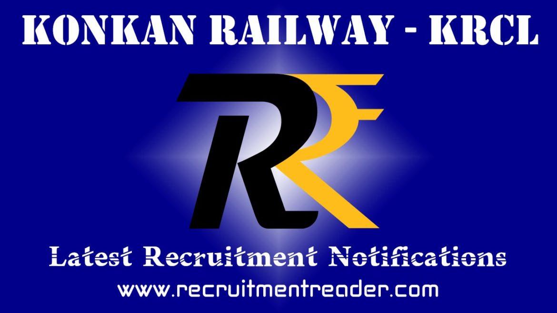 KRCL Recruitment Notification 2018