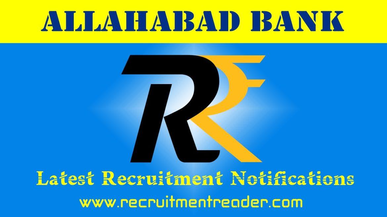 Allahabad Bank Recruitment Notification 2018