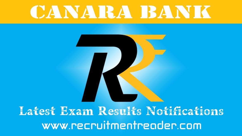 Canara Bank Exam Result 2018