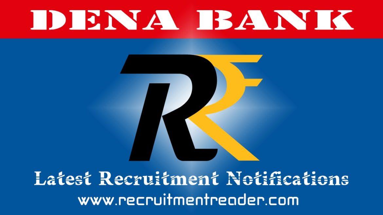 Dena Bank Recruitment Notification 2018