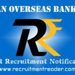 IOB Recruitment Notification