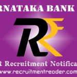 Karnataka Bank Recruitment Notification 2019