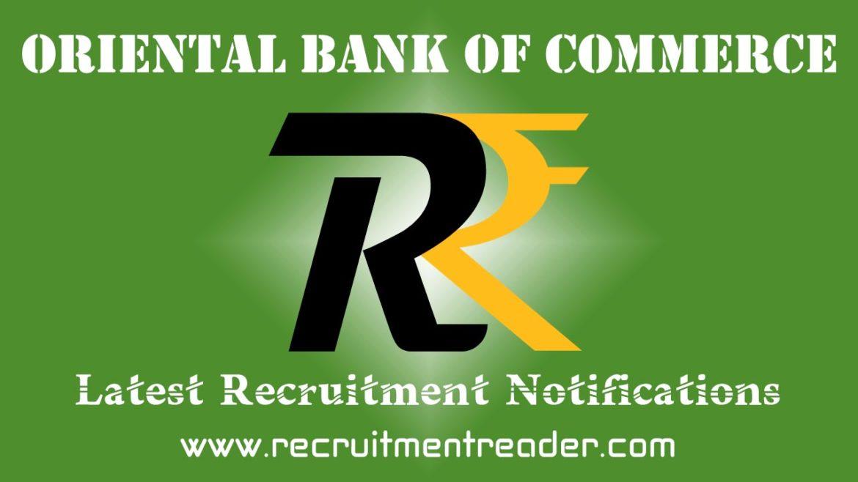 Oriental Bank Recruitment Notification 2018