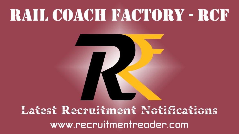 Rail Coach Factory Recruitment Notification 2018