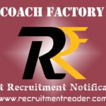 Rail Coach Factory Recruitment Notification 2019