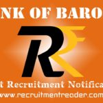 Bank of Baroda Recruitment Notification 2019