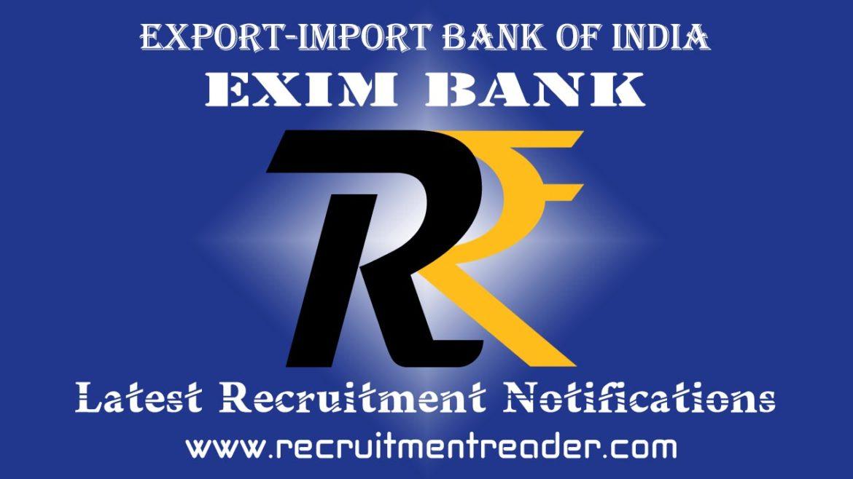 EXIM Bank Recruitment Notification 2018