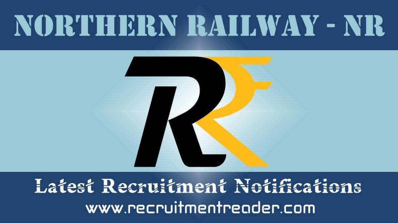 Northern Railway Recruitment Notification 2018