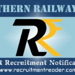 Northern Railway Recruitment Notification 2020