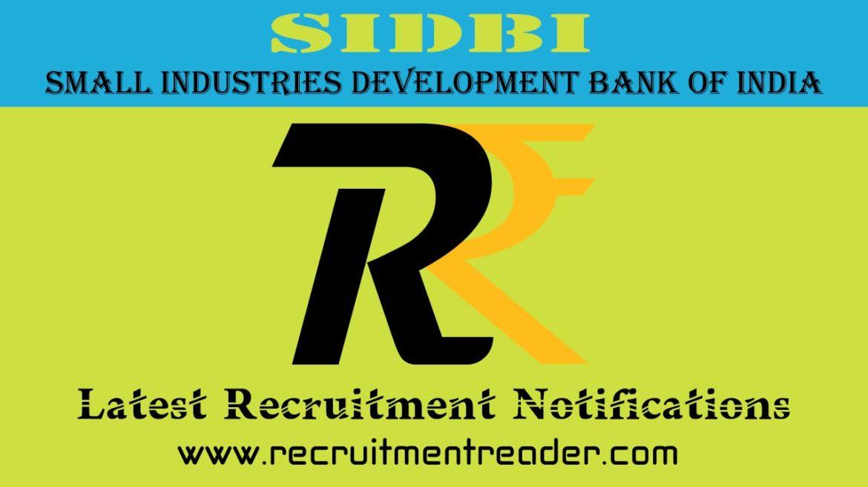 SIDBI Recruitment Notification 2018