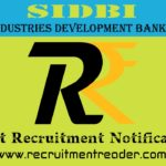 SIDBI Recruitment Notification 2019