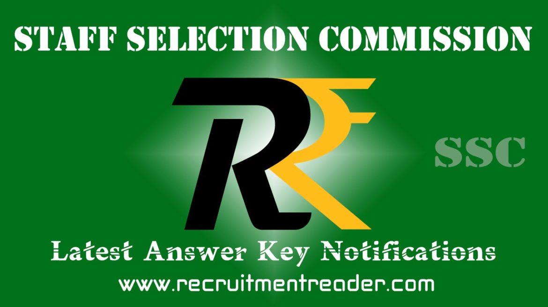 SSC Exam Answer Key 2018