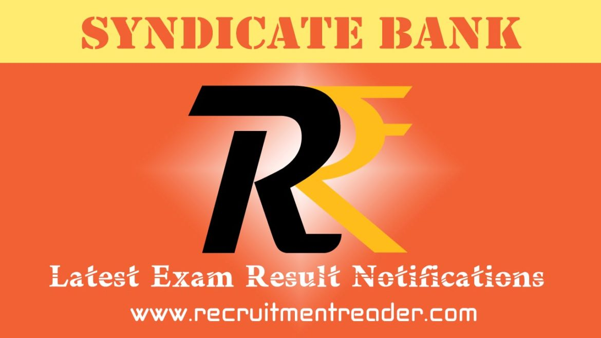 Syndicate Bank Exam Result 2018