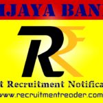 Vijaya Bank Recruitment Notification 2019