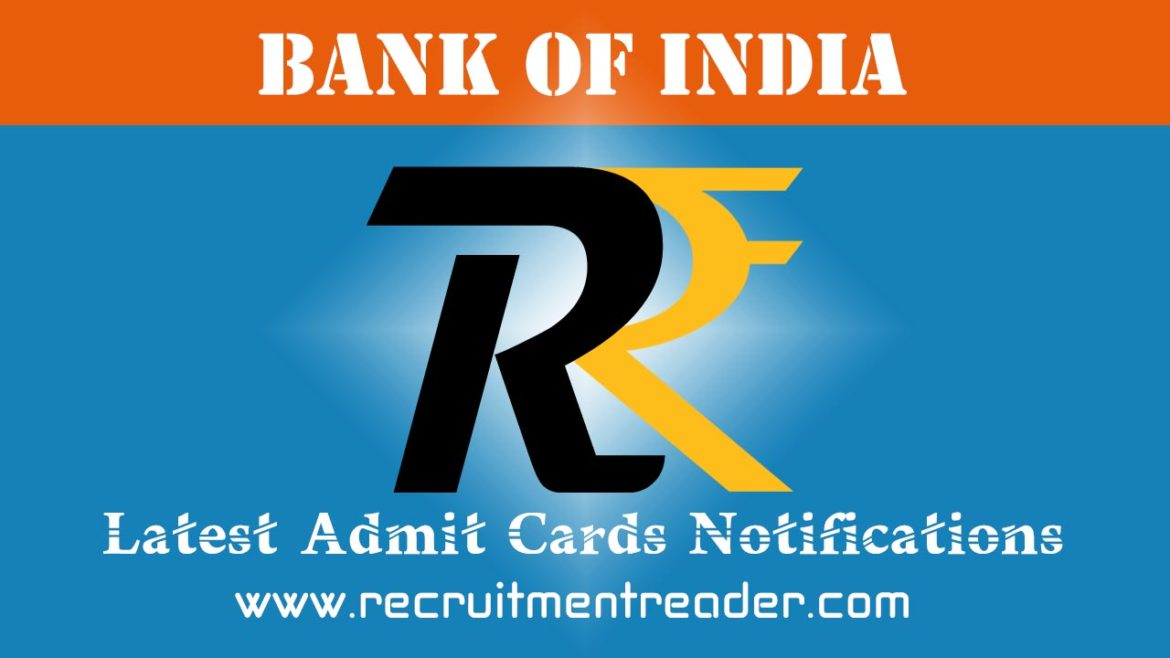 Bank of India Exam Admit Card 2018