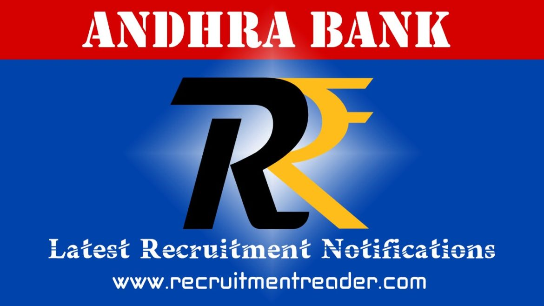 Andhra Bank Recruitment Notification 2018