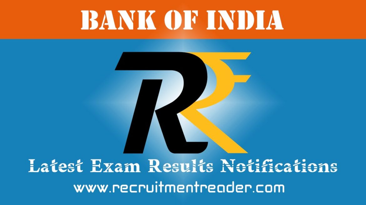 Bank of India Exam Result 2018