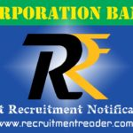 Corporation Bank Recruitment Notification 2019