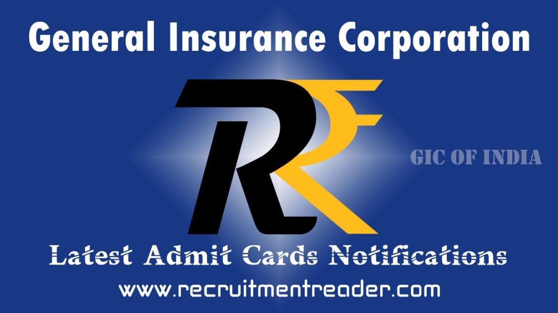 GIC Re India Exam Admit Card 2018