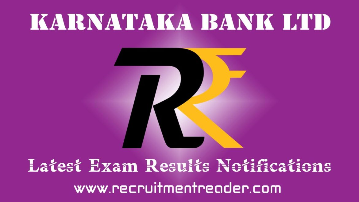 Karnataka Bank Exam Result 2018