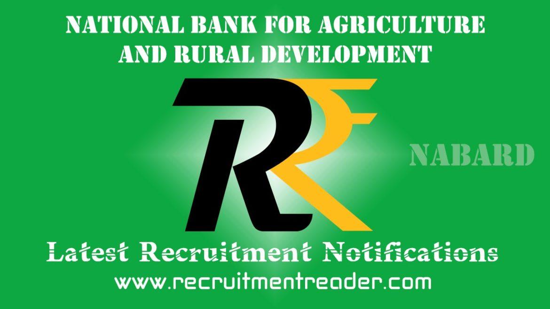 NABARD Recruitment Notification 2018
