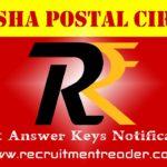 Odisha Postal Exam Answer Key 2018
