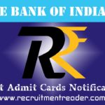 SBI Exam Admit Card 2019