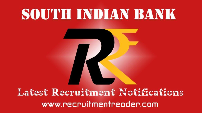 South Indian Bank Recruitment Notification 2018