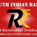 South Indian Bank Recruitment Notification 2019