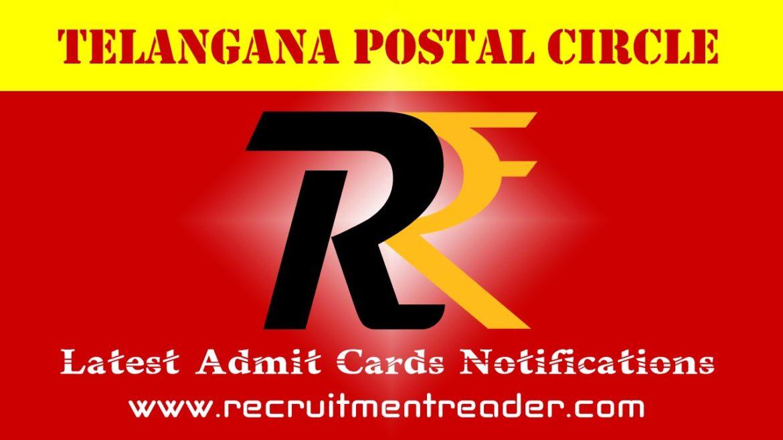 TS Postal Exam Admit Card 2018