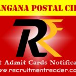 TS Postal Exam Admit Card 2018