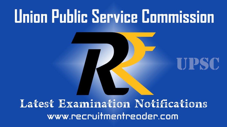 UPSC Exam Notification 2018
