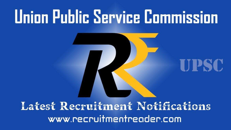 UPSC Recruitment Notification 2018