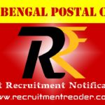 WB Postal Recruitment Notification 2019