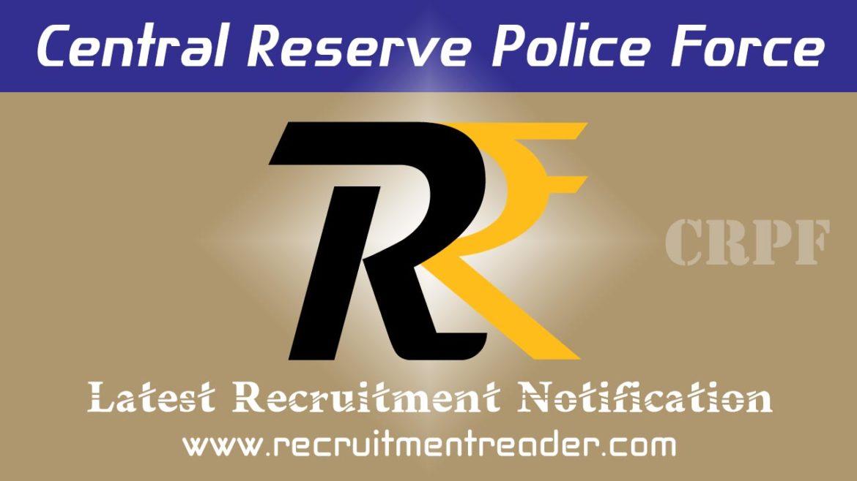 CRPF Recruitment Notification 2018