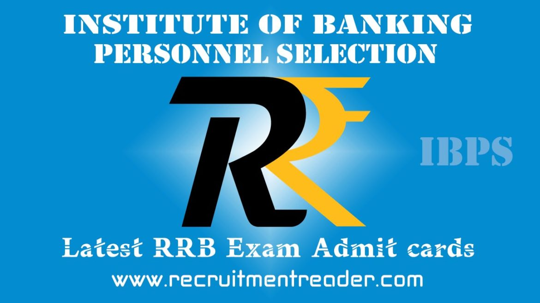 IBPS RRB Exam Admit Card 2018