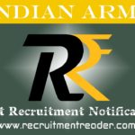 Indian Army Recruitment Notification 2019