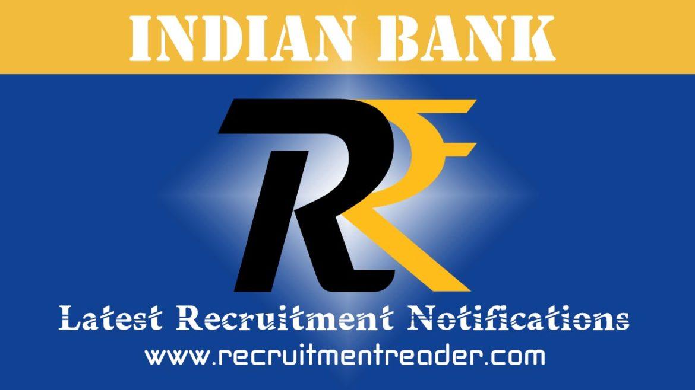 Indian Bank Recruitment Notification 2018