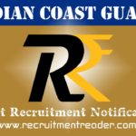 Indian Coast Guard Recruitment Notification 2018