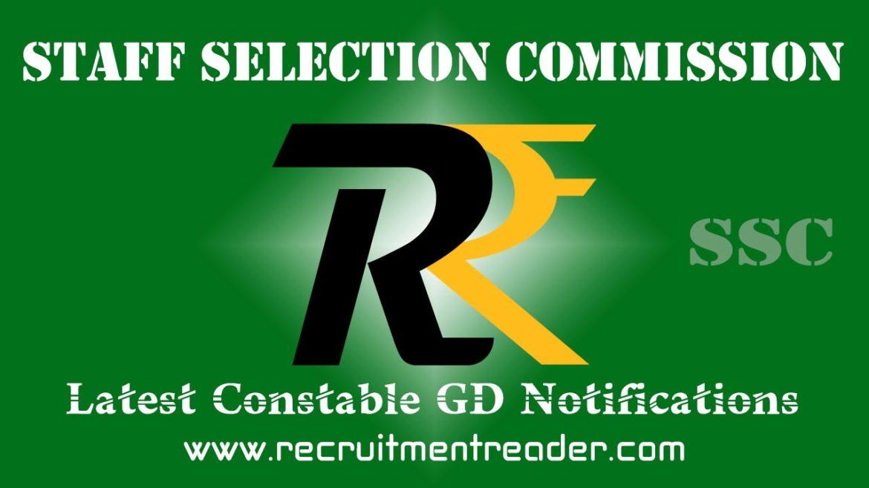 SSC Constable GD Exam Notification 2018