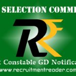 SSC Constable GD Exam Notification 2018
