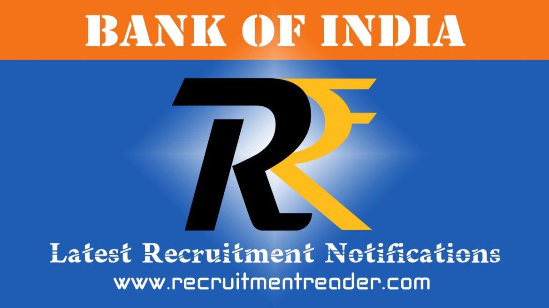 Bank of India Recruitment Notification 2018